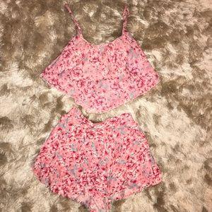 Tally Weijl Pink Floral Set